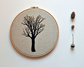 embroidery hoop fiber art - Rio de Mel's Tree Oak Tree