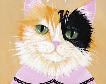 Custom Pet Portrait - Acrylic on Wood - Folk Art Style Painting