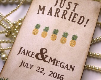 Just Married Sign, Wedding Table Sign, Table Decorations, Wedding Table Numbers, Pineapple Party, Bride Groom Sign, Vintage Wedding