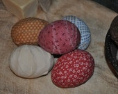 Primitive Handmade Ex Large Fabric Rag Eggs Anytime Farm Eggs Bowl/Basket Fillers