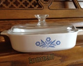 Corning Ware Cornflower Blue 8 inch Casserole Dish with lid