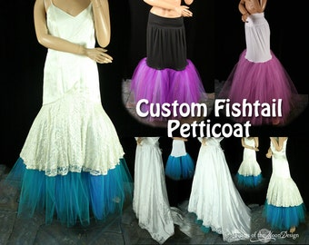 Custom color Fishtail petticoat wedding underskirt puff bride bridal formal dance bridesmaid -- You choose Size -- Sisters of the Moon