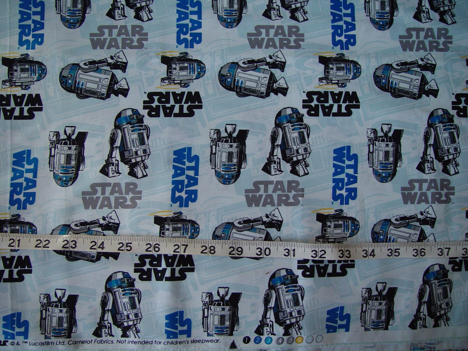 Star wars r2d2 logo fabric almost 2 yards for Star wars fabric