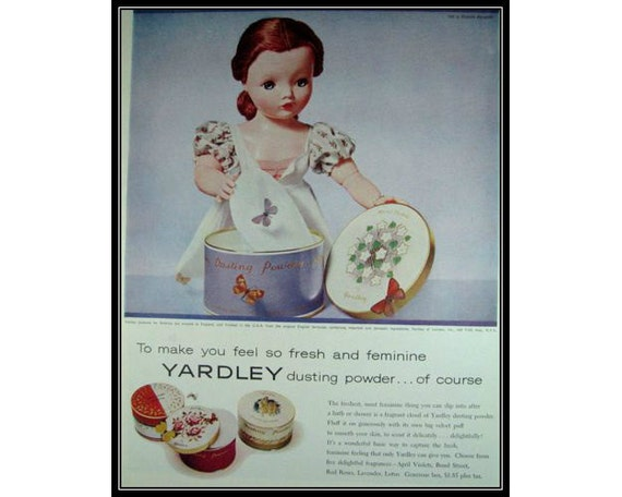 Yardley Powder Madame Alexander Doll..1950s Vintage Advertising E102 D