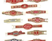160 CIGAR BAND Labels -new old stock cigar bands lithographed in 1930 ++++. There are 10 each of 16 designs.