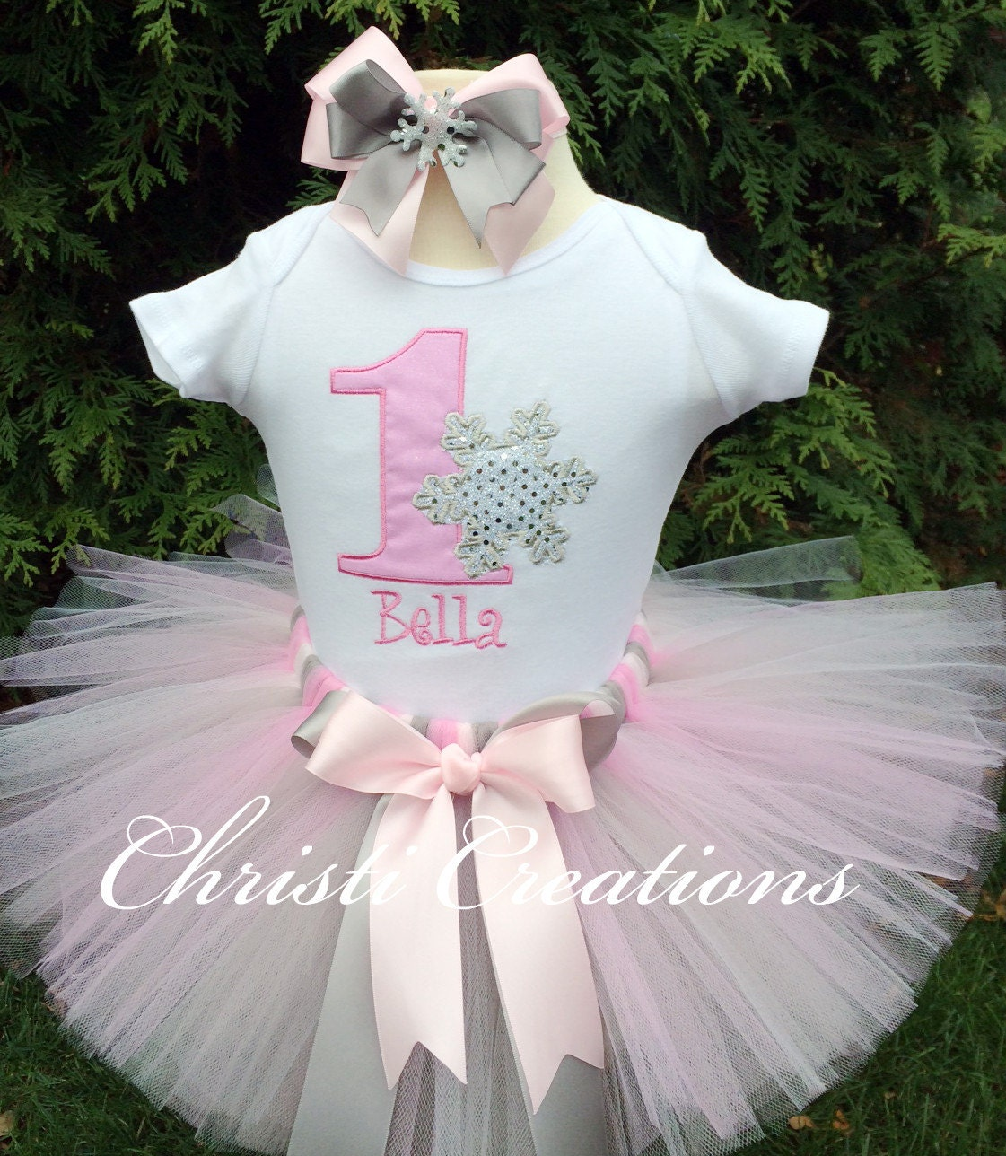 Baby Girl 1st Birthday Outfit Winter ONEderland Tutu Outfit