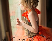 Orange Camo Flower Girl T...