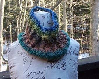 hand knitted neck warmer for men or women