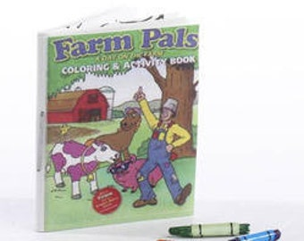 Miniature Coloring Book and Crayons