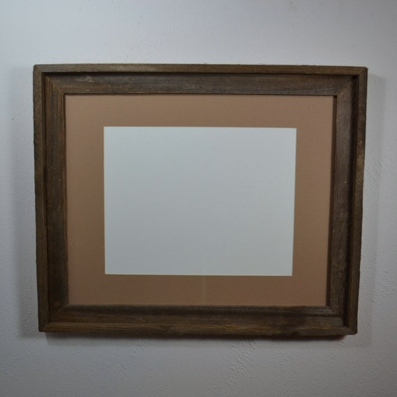Rustic Chic Wood Frame 16x20 With Mat For By Barnwood4u On