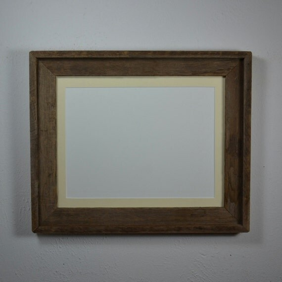 Old Wood Frame 11x14 With Mat For 8x10 Or 8x12 Or By
