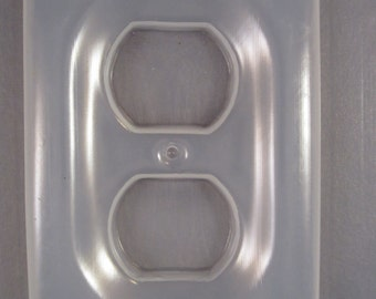 Resin Mold Outlet Plate Cover Plain Embed Fun Items 71x112mm Mould
