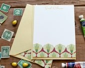 Artichoke Pattern Flat Notes / Greens - Set (10)