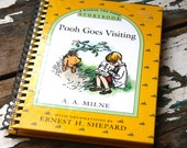 Pooh Goes Visiting // recycled book journal