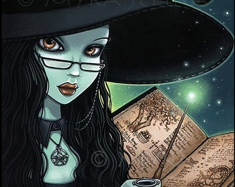 Twyla Samhain Witch Halloween Magical Fantasy Limited Edition Canvas ACEO
