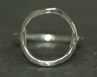Circle Ring, Eternity Ring, Size 4, Shapes Ring, Pinky Circle Ring, Fine Silver Ring, Infinite RIng Eternal Handmade Maggie McMane Designs