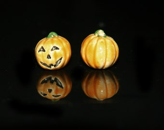 Ceramic Pumpkin Bead