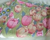 NEW Burlington Full Flat Floral Sheet - Vintage Fabric Use