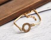 Shema Israel Kabbala bracelet gold string Evil Eye bracelet