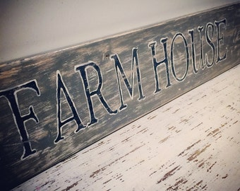 Farmhouse Decor, Gift for her, Farmhouse Sign, Salvaged Wood, Barn Sign, French Country, Farmhouse Decor, Painted Wood Sign