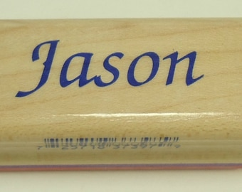 Jason Wood Mounted Rubber Stamp By Inkadinkado