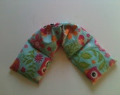 Heat Pack or Cold Therapy Wrap/ Neck Shoulder/ Flax Seed,Mint, Lavender -Pink Owls