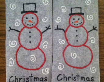 Personalized Socks - Christmas Adult Men's Size 12 - 14