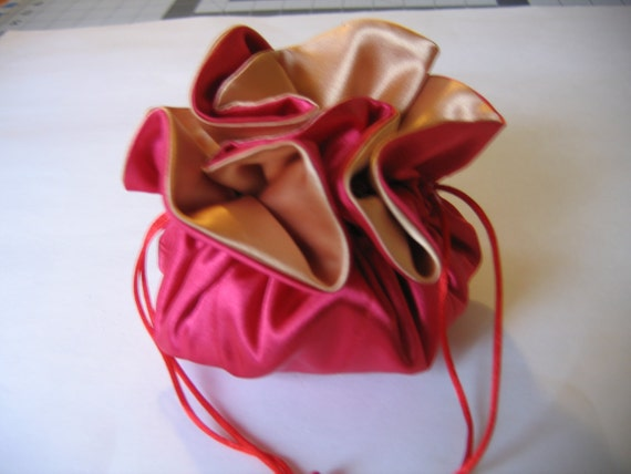 Red and Gold Junior Jewelry Bag Tote Pouch