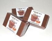 Hazelnut Coffee Handmade Coffee and Goats Milk Soap Dye Free MINI GUEST SIZE Soap Bar