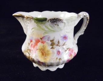 Vintage Floral Cream Pitcher/Creamer