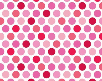 1 yard FLANNEL Pink Dots fabric from Riley Blake