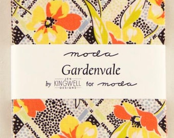 SALE 5 inch charm pack GARDENVALE Moda Fabric by Jen Kingwell Designs