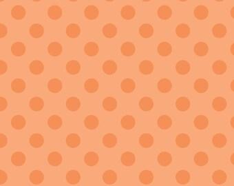"SALE last one 30"" Orange Medium Polka Dots fabric by Riley Blake"