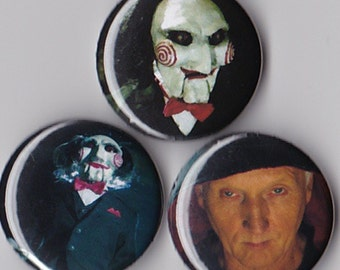 3 Saw Pinback Buttons