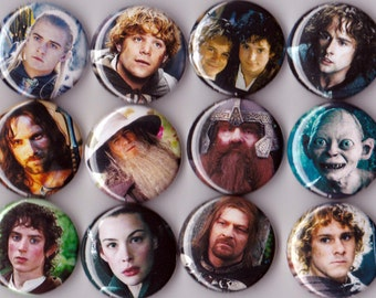 12 Lord of the Rings Buttons