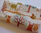 Security Blanket or Doll Blanket - Laundry Day - Birch Fabrics, Acorn Trail Autumn Woodland Blanket