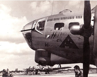 Vintage WWII WW2 Black & White Airplane and  Fliers Photos Hell on Wings