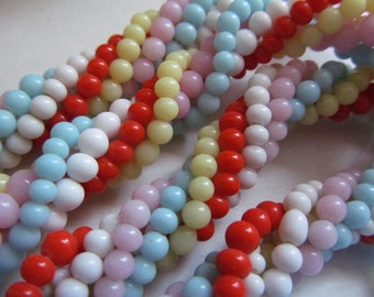 Vintage Glass Beads Unfinished Necklace Finding