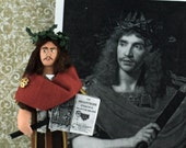 Moliere French Art Doll Miniature Historical Comedy Theatrical Character