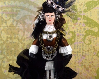Steampunk Victorian Art Doll Miniature Annabelle Lee