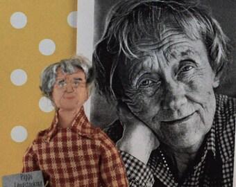 Astrid Lindgren Author Doll Miniature Swedish Writer Children's Literature