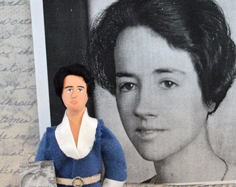 Writer Doll Anne Morrow Lindbergh Historical Art Collectible