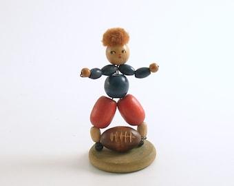 Vintage Football Player Wood Figurine Super Bowl Denver Broncos