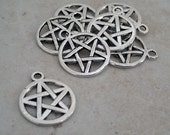 Pentagram Pendant Charm Bead Bangle