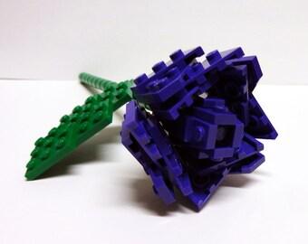 Custom Purple Single Stem Open Rose
