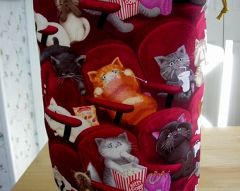 Knitting Project Bag  KIP bag   CATS  A - 54