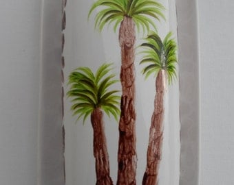 Palm Tree Butter Dish Palm Trees Animal Print Butter Dish Hand Painted Butter Dish With Lid Covered Butter Dish