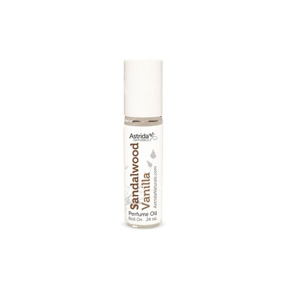 Sandalwood Vanilla Oil Perfume Roll On, Warm, Soft, Sweet, Elegant, Personal Fragrance, Great for Layering