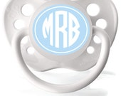 waterproof personalized labels, monogrammed pacifier stickers, dishwasher safe daycare labels,  circle monogram, set of 70