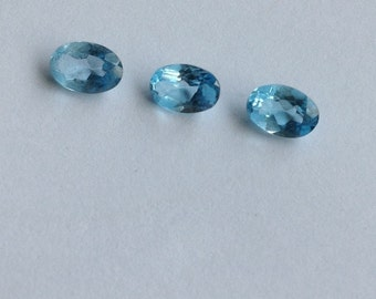 Swiss Blue Topaz Oval Faceted Gems